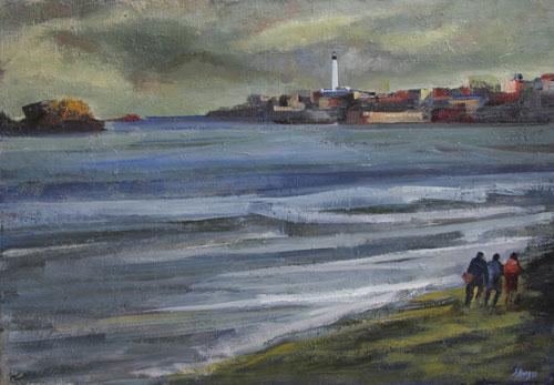 El Faro de Biarritz     Óleo / lienzo 116 x 81 cm