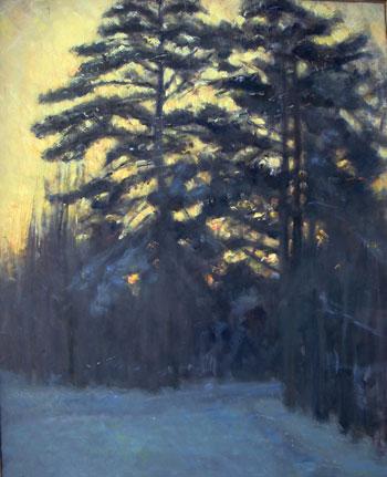 Konstantin Antonov.  Día Invernal     óleo/lienzo 100x79