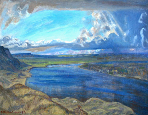 Boris Okorokov.    Rusia de Esenia     óleo/lienzo 70x90